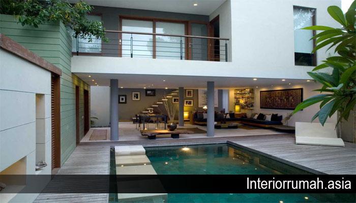 Desain Rumah Mewah dengan Interior Garden yang Mempesona